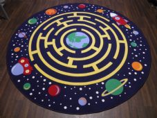 200CMX200CM SPACE RACE RUGS/MATS HOME/SCHOOL EDUCATIONAL NON SILP BEST SELLER